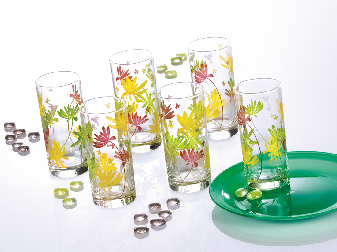 Luminarc Amsterdam Crazy Flower Highball Tumbler ...
