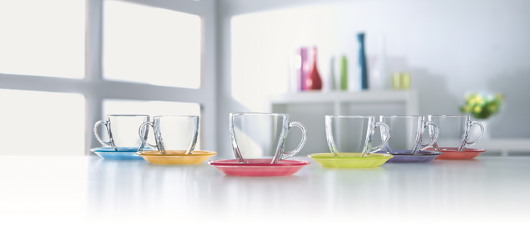 Luminarc Carina Rainbow Tea Cup Set